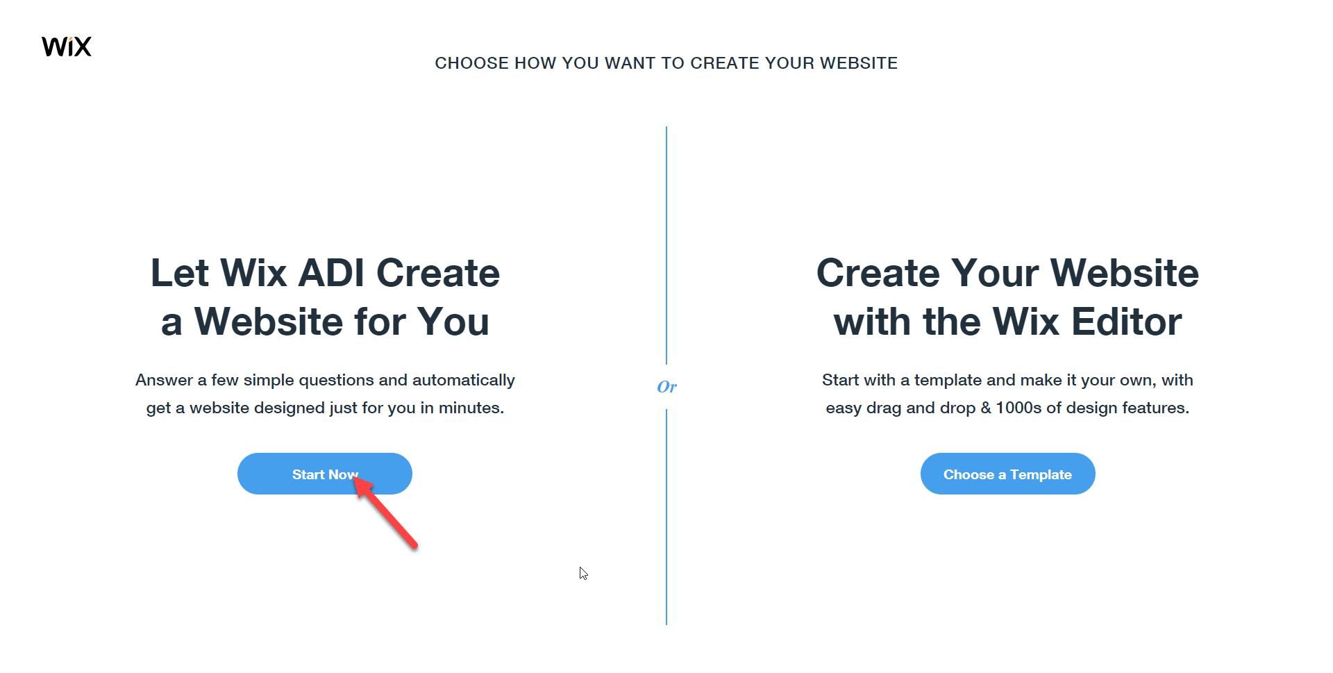 كيفية إنشاء موقع ويب باستخدام Wix