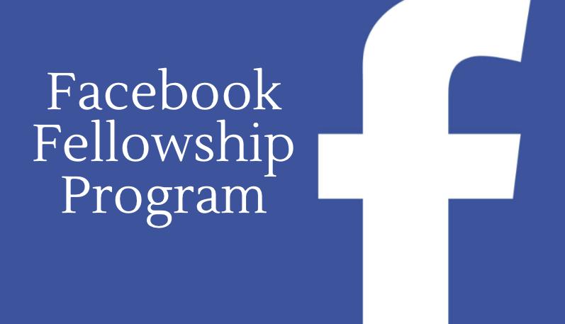 برنامج زمالة فيس بوك Facebook ممول بالكامل
