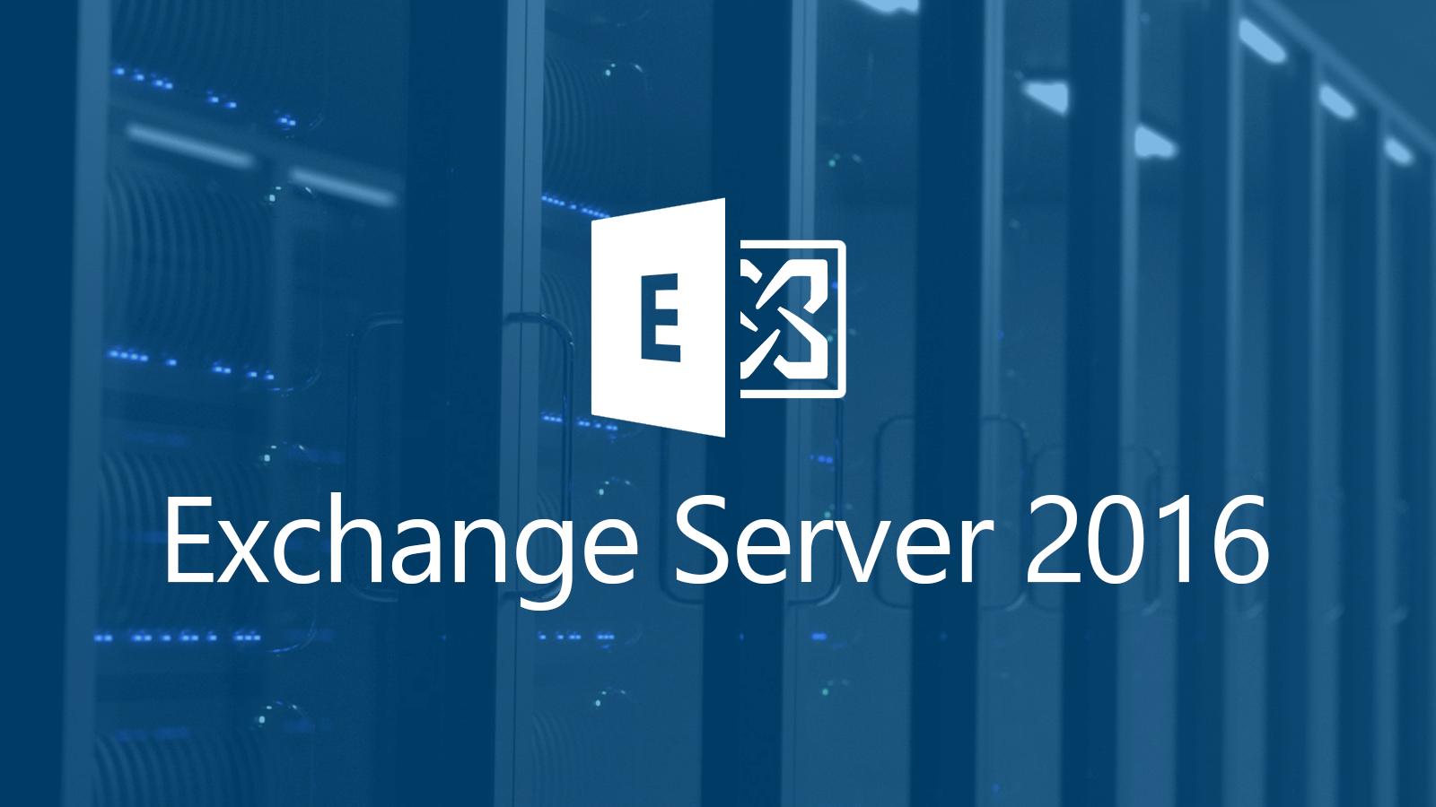 دورة لتعلمExchange Server 2016